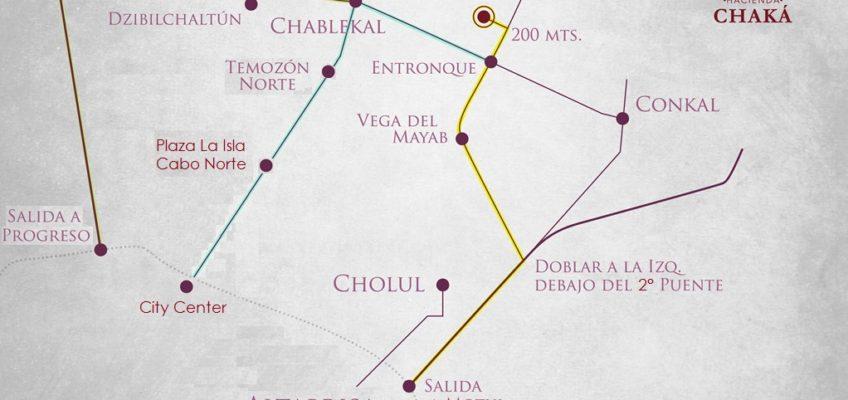 ¿Cómo llegar a la Hacienda Chaká?